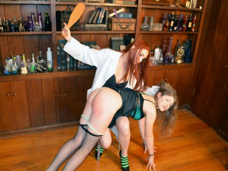 Spanking Veronica Works: Episode 102: Spanking in the Lab