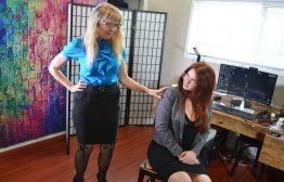 Spanking Veronica Works: Episode 192: Clare Spanked At Office